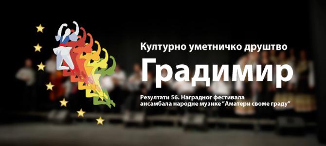 """Резултати 56. Наградног фестивала ансамбала народне музике """"Аматери своме граду"""""""